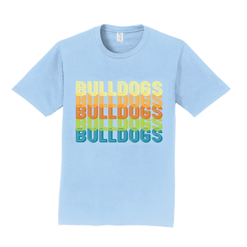 Blue Retro Bulldogs Shirt