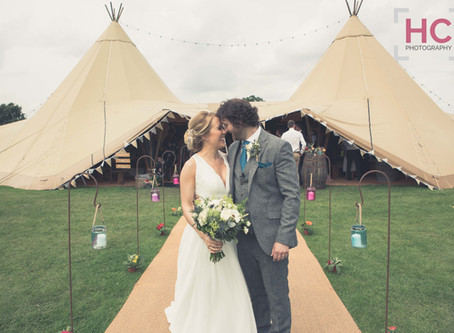 Danny & Kate's Tipi Wedding