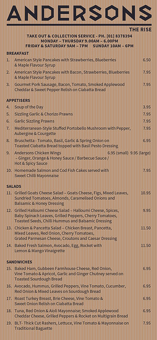 Anderson NEW TakeOut Menu 2pp September