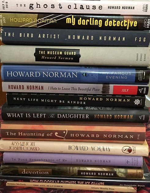 Photo of Howard Norman books 2019.JPG