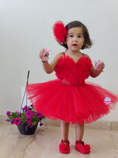 CANDY RED  HEART DRESS