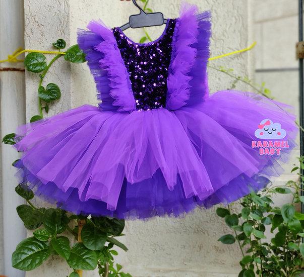 CANDY FLOSS DRESS PURPLE
