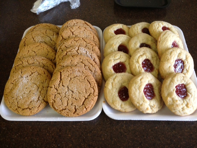 Ginger Sparkles & Jam Cookies