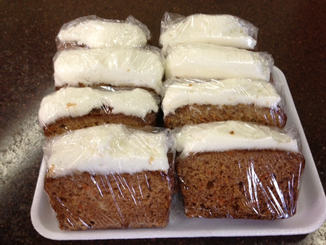 Carrot Loaf with Cream Cheese Icing