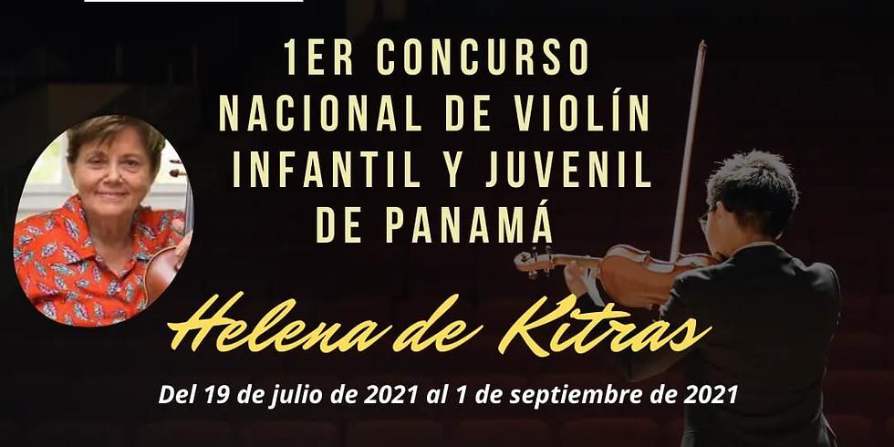 1er Concurso Nacional de Violín Infantil y Juvenil de Panamá Helena de Kitras