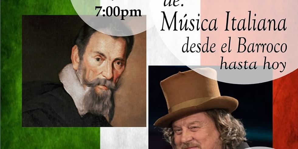 Musica Italiana: desde el Barroco hasta hoy.
