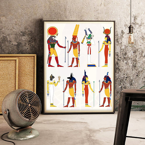 Egyptian Decor God Of Egypt Picture Canvas