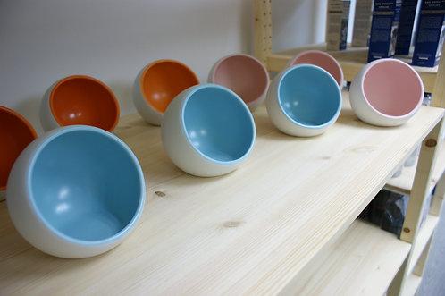 三色太空陶瓷糧碗
