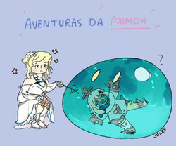 Aventuras da Paimon (Genshin Impact fanart)