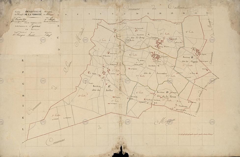 Cadastrre napoleonien Eysines 1811.jpg