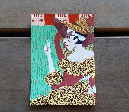 "Carte postale Célia Gaultier ""Rich Bitch"""