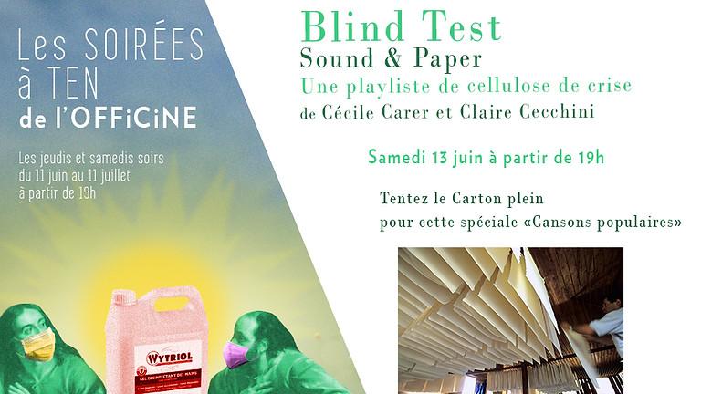 Blind-test Sound & Paper