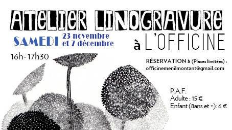 Atelier LinoGravure !