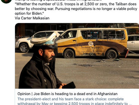 Like His Predecessors, Trump Failed Badly In Afghanistan-- Now He Wants To Make Sure Biden Does Too