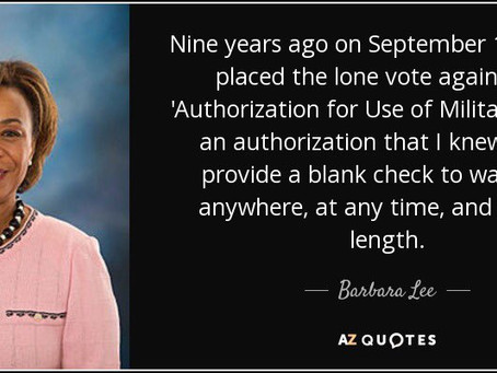 If Only We Had Listened To Barbara Lee Instead Of Dick Cheney!