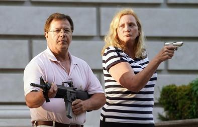Remember The St. Louis Gun Nut Couple Threatening Peaceful Demonstrators Last June?