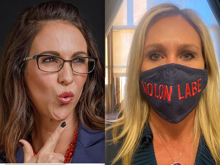 Which Republicans Will Trump Take Down With Him? The Two Q-Anon Ladies?