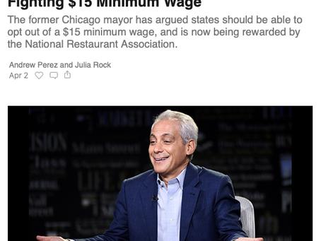 Corrupt Conservative Corporate Whore Rahm Emanuel Should Not Be An Ambassador