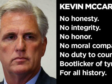 Kevin McCarthy Has Reason To Be Petrified