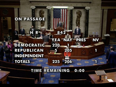 Strong Labor Bill Passed The House Last Night-- Headed Straight To The Senate  Filibuster Graveyard