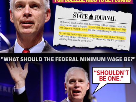 Ron Johnson Continues Embarrassing Wisconsin
