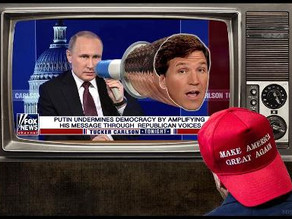 Midnight Meme Of The Day! Tucker Broadcasts From Putin's Script
