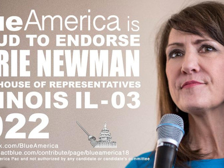 Blue America's First Incumbent Endorsement For 2022: Marie Newman (IL)