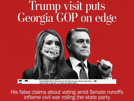 Trump's Goin' Down To Georgia To Boost Team Q-- Or To Spark Civil Unrest?