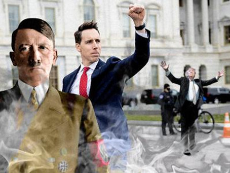 Hawley & Trump Should Be Forced To Lick The Shit Their Backers Smeared On The Walls Of The Capitol