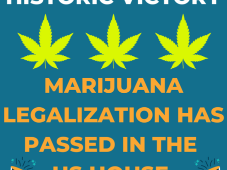 The House Voted To Legalize Marijuana Today-- McConnell Refuses To Allow A Senate Vote