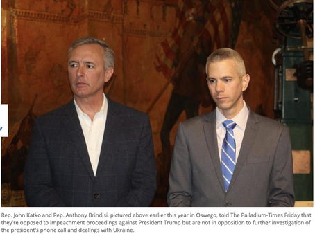 Another Transactional Conservative Democrat Just Joined Trump's Party-- Will Brindisi Be Next?
