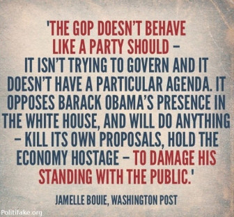 Most Voters Recognize That It Is Pavlovian GOP Obstructionism That Is Ruining The Country