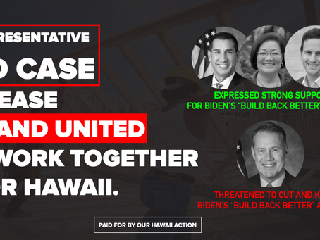 Ed Case-- Way Too Conservative For Hawaii