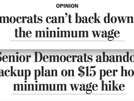 Biden Ends The Dems' $15 Minimum Wage Push That He Never Cared About