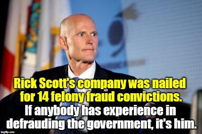 """Part 16, A Journal Of A Plague Year:The Lunacy For Which Republicans Stand--Rick Scott, """"Best Words"""""""