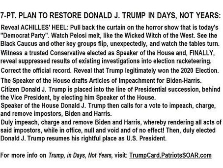 Midnight Meme Of The Day! GOP's 7-Point Plan To Restore Trump!