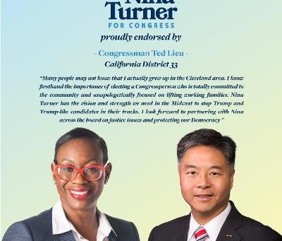 Ted Lieu Endorsed Nina Turner This Morning