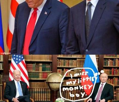 Midnight Meme Of The Day! Putin Misses His Little Monkey Boy!