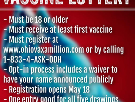 DeWine's Vaccine Lottery Is Working In Ohio-- So His Clueless Political Enemies Attack Him