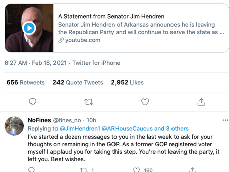 One Of Arkansas' Top Elected Republicans Quit The Party