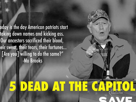 For Mo Brooks, Insurrection & Political Violence Are All In A Day's Work Representing Alabama