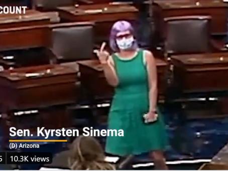 Kyrsten Sinema-- Our Generation's Billy Tauzin With Multi-Colored Wigs & Congress' Ugliest Wardrobe