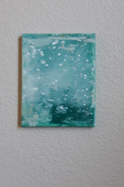 Custom Acrylic on Canvas in Teal