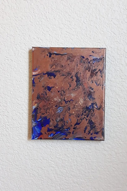 Custom Acrylic on Canvas in Copper