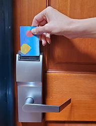 Guest get extra security with a key card for their room as well as entry to Gaslamp Hostel San Diego.