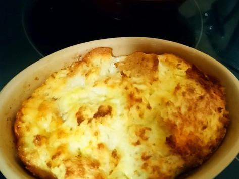 Cheesy Eggy Bread Pudding