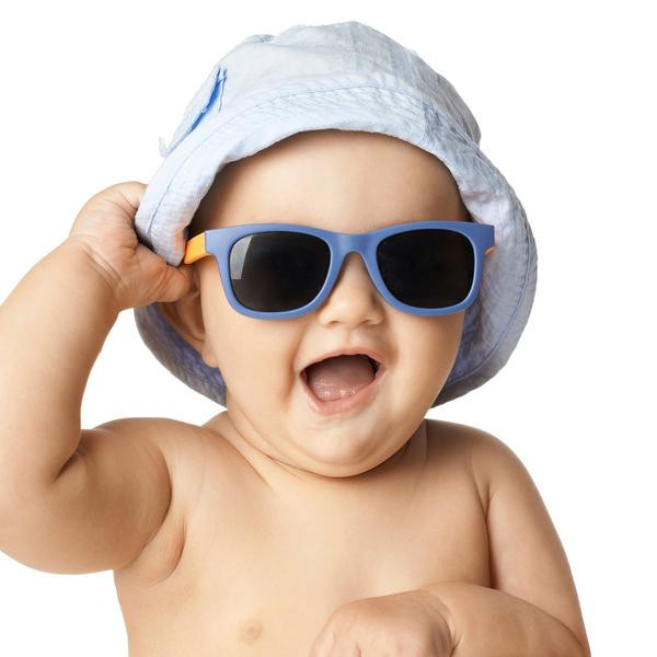 Advice for hot temperatures - keep your baby out of the sun where possible. They should wear a hat and sunglasses where possible to protect them from harmful UV rays.
