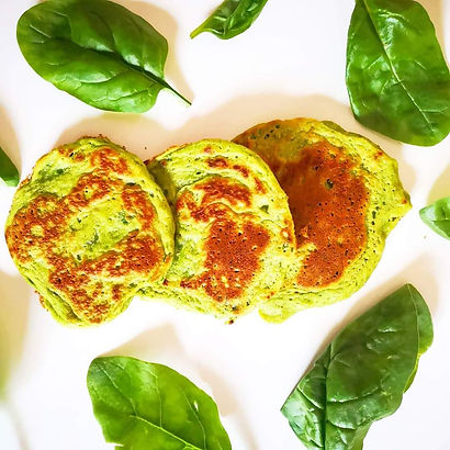 Spinach & Avocado Pancakes