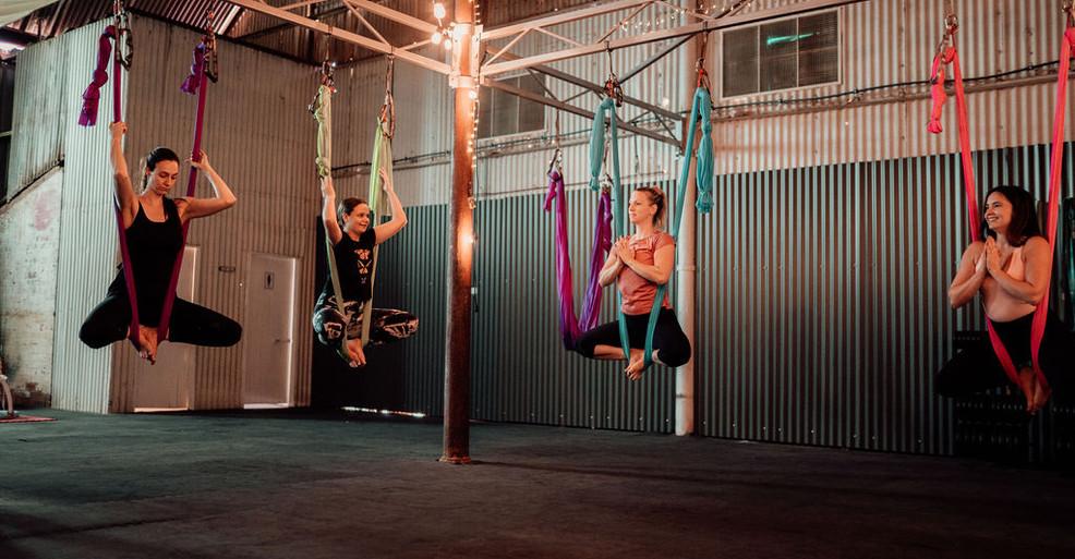 Aerial Yoga Kalgoorlie Boulder Fun Fitness Meditation Stretching