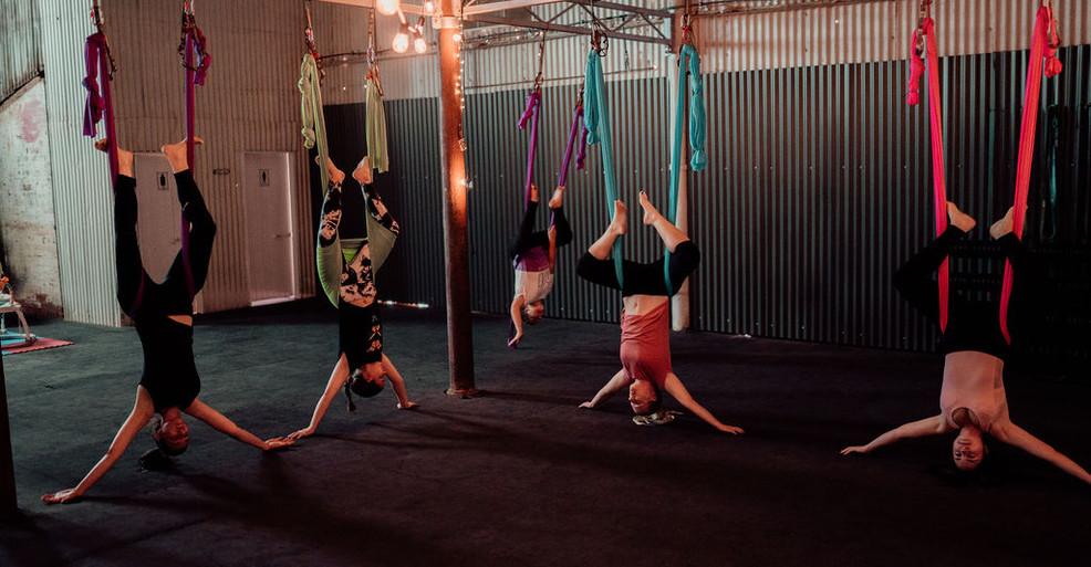 Aerial Yoga Kalgoorlie Boulder Fitness Fun Meditation Stretching